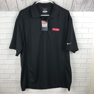 Nike Polo Golf Shirt TOYODA TOYOTA Size Large